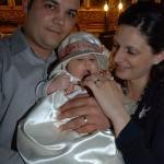 Bianca si parintii ei la botez