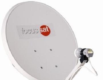 focussat antena satelit