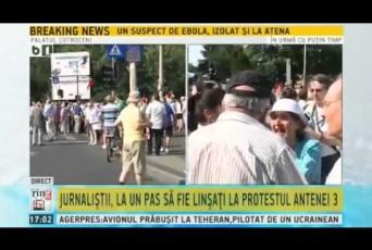 """VIDEO. Mitocanul bătrân, agresor al jurnalistei B1 la """"plimbarea"""" Antenei 3, trimis în fața judecătorilor"""