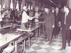 1970 - Vizita la Intreprinderea de confectii Vaslui