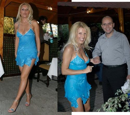 Elena Udrea rochie albastra