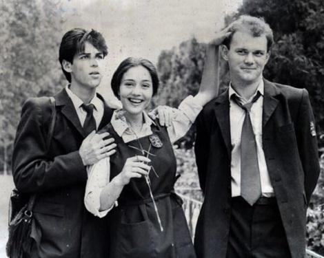 """Secvență din """"Liceenii"""", cu Ștefan Bănică Jr și Oana Sârbu (1987)"""