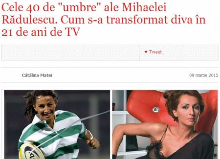 Articolul care a enervat-o pe Mihaela Rădulescu (înainte de a fi șters)
