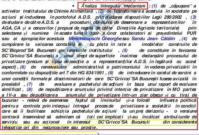 În chenar roșu, fraza completă din rechizitoriu din care a fost extrasă partea care i-a convenit lui Dan Voiculescu (subliniată cu galben). Rechizitoriul integral a fost publicat de HotNews.ro (captură foto)