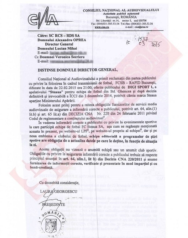 scrisoare laura georgescu