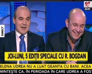 """Rareș Bogdan și Cozmin Gușă, captură din emisiunea """"Jocuri de Putere"""" de aseară"""