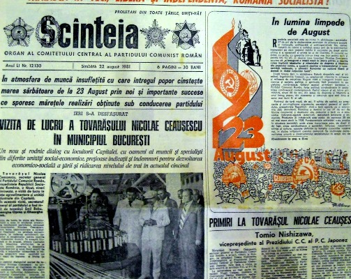 Ziarul Scânteia, oficiosul PCR