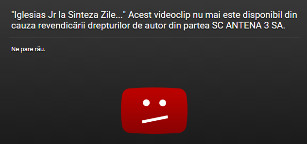 youtube reclamatie antena 3