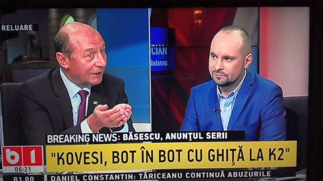 Constant, cu o zi înainte ca Elena Udrea să aibă un termen la instanță, Traian Băsescu apare la B1 TV acuzând DNA de abuzuri.